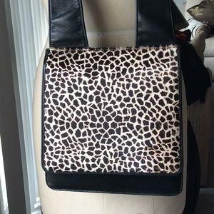 Handbags - Women's hand bag leather animal print pony skin